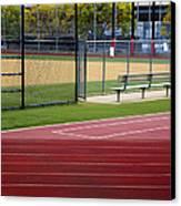 Track And Baseball Diamond Canvas Print