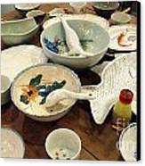 Traditional Chinese Dinner Setting Canvas Print