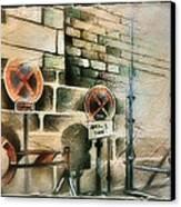 Traffic Signs In Dusseldorf 1982 Canvas Print by Glenn Bautista