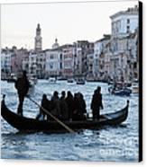 Traghetto . Gran Canal. Venice Canvas Print by Bernard Jaubert