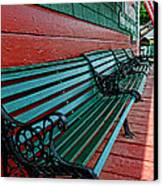 Train Station Waiting Area Canvas Print by Paul Ward