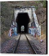 Train Tunnel At The Muir Trestle In Martinez California . 7d10220 Canvas Print by Wingsdomain Art and Photography