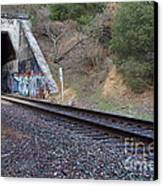 Train Tunnel At The Muir Trestle In Martinez California . 7d10228 Canvas Print by Wingsdomain Art and Photography