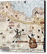 Trans-saharan Caravan Routes 1413 Canvas Print by Sheila Terry