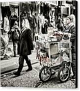 Traveling Vendor Canvas Print