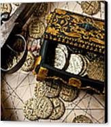 Treasure Box With Old Pistol Canvas Print