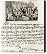 Treaty Between William Penn Canvas Print