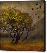 Tree And Birds Canvas Print by Svetlana Sewell