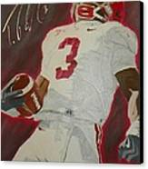 Trent Richardson Alabama Crimson Tide Canvas Print by Ryne St Clair