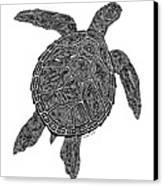Tribal Turtle IIi Canvas Print by Carol Lynne