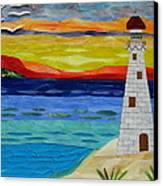 Trinity Lighthouse On The Bay Of Paradise Canvas Print by Charles McDonell