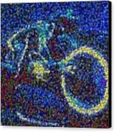 Tron Light Cycle Skittles Mosaic Canvas Print by Paul Van Scott