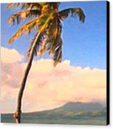 Tropical Island 2 - Painterly Canvas Print