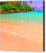 Tropical Island 3 - Painterly Canvas Print by Wingsdomain Art and Photography