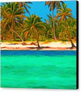 Tropical Island 5 - Painterly Canvas Print