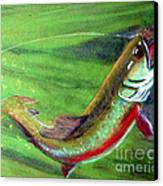 Trout On - Pastel Painting Canvas Print