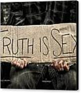 Truth Is Sexy Canvas Print by Evelina Kremsdorf