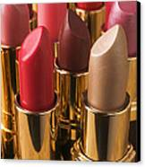 Tubes Of Lipstick Canvas Print by Garry Gay