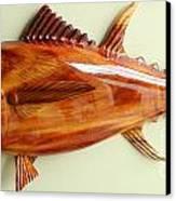 Tuna Sculpture Canvas Print by Douglas Snider
