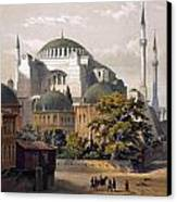 Turkey: Hagia Sophia, 1852 Canvas Print