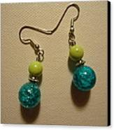 Turquoise And Apple Drop Earrings Canvas Print