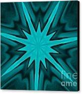 Turquoise Star Canvas Print by Marsha Heiken