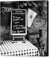 Tuscan Cafe Diner Canvas Print by Andrew Soundarajan