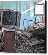 Tv On Stand Canvas Print by James Steele