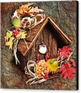 Tweet Little Bird House Canvas Print by Andee Design