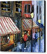 Twelve Street And Rine Canvas Print by Anthony Falbo
