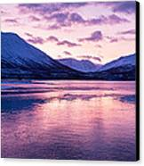 Twilight Above A Fjord In Norway With Beautifully Colors Canvas Print