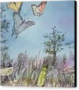 Twilight In The Garden Canvas Print by Dorothy Herron