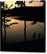 Twilight Over Walden Pond, Made Famous Canvas Print