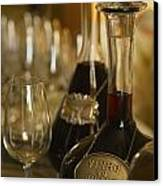 Two Decanters Of Port Wine And Glasses Canvas Print by Michael Melford