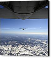 Two Ec-130j Commando Solo Aircraft Fly Canvas Print
