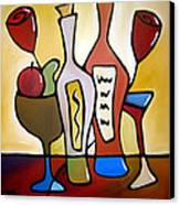 Two-fer - Abstract Wine Art By Fidostudio Canvas Print by Tom Fedro - Fidostudio