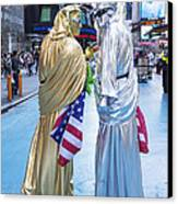 Two In Time Square Canvas Print by Ed Rooney