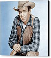 Two Rode Together,  James Stewart, 1961 Canvas Print
