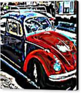 Two Toned Vw Beetle Canvas Print by Samuel Sheats