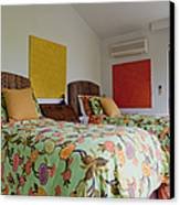 Two Twin Beds Canvas Print