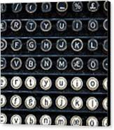 Typewriter Keyboard Canvas Print by Hakon Soreide