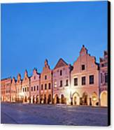 Typical Houses And The Castle Canvas Print by Maremagnum