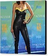 Tyra Banks Wearing A Thierry Mugler Canvas Print