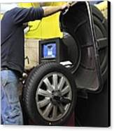 Tyre Workshop And Garage Canvas Print