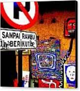 Ubud Art Street  Canvas Print