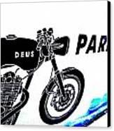 Ubud Motorbike Parking  Canvas Print