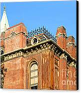 Uc Berkeley . South Hall . Oldest Building At Uc Berkeley . Built 1873 . The Campanile In The Backgr Canvas Print