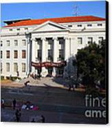 Uc Berkeley . Sproul Hall . Sproul Plaza . Occupy Uc Berkeley . 7d10004 Canvas Print by Wingsdomain Art and Photography