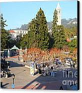 Uc Berkeley . Sproul Hall . Sproul Plaza . Sather Gate And Sather Tower Campanile . 7d10016 Canvas Print