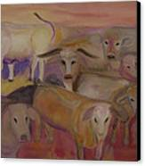 Udderly Different Canvas Print by Susan Hanlon